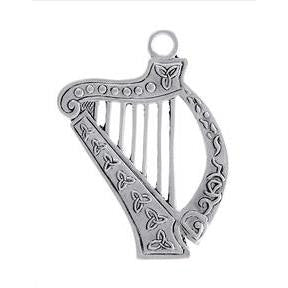 Celtic Harp Ornament