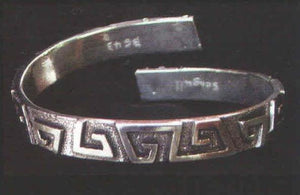 Greek Key coiled bangle BG-43g