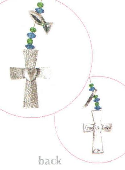 Cross Wire Swirl Bookmark BM-2007