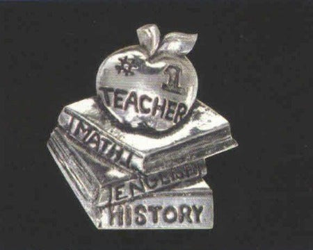 #1 Teacher Pin