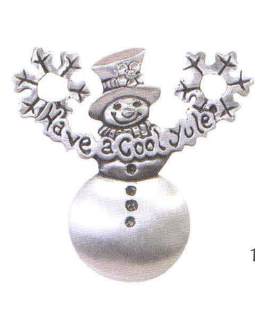 "Snowman "" Have a Cool Yule"" Charm"