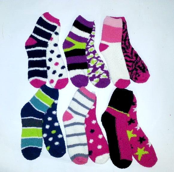 W&F Ladies 2Pk Softie Crew socks C48  16520509