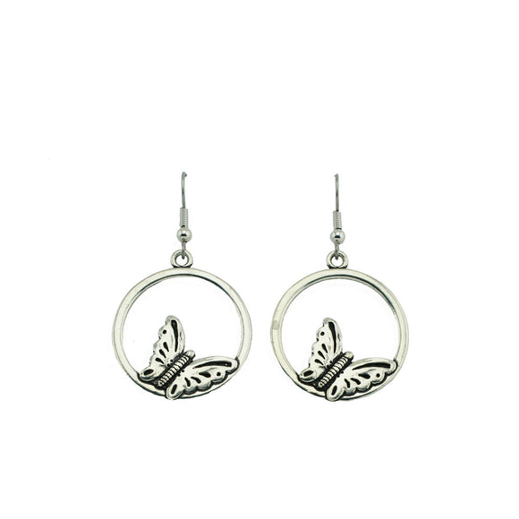 Butterfly Hoop Earrings E048
