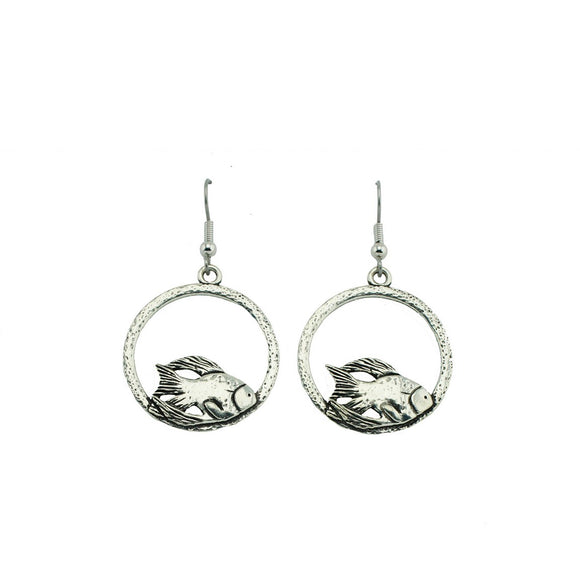 Fish Hoop Earrings E050