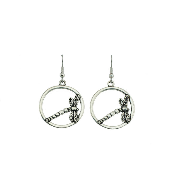 Dragonfly Hoop Earrings E053