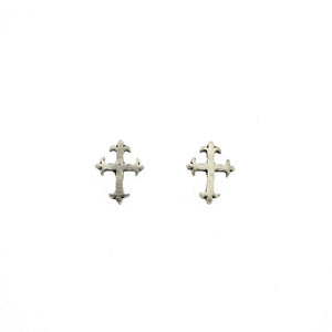 Cross Stud Earrings E075