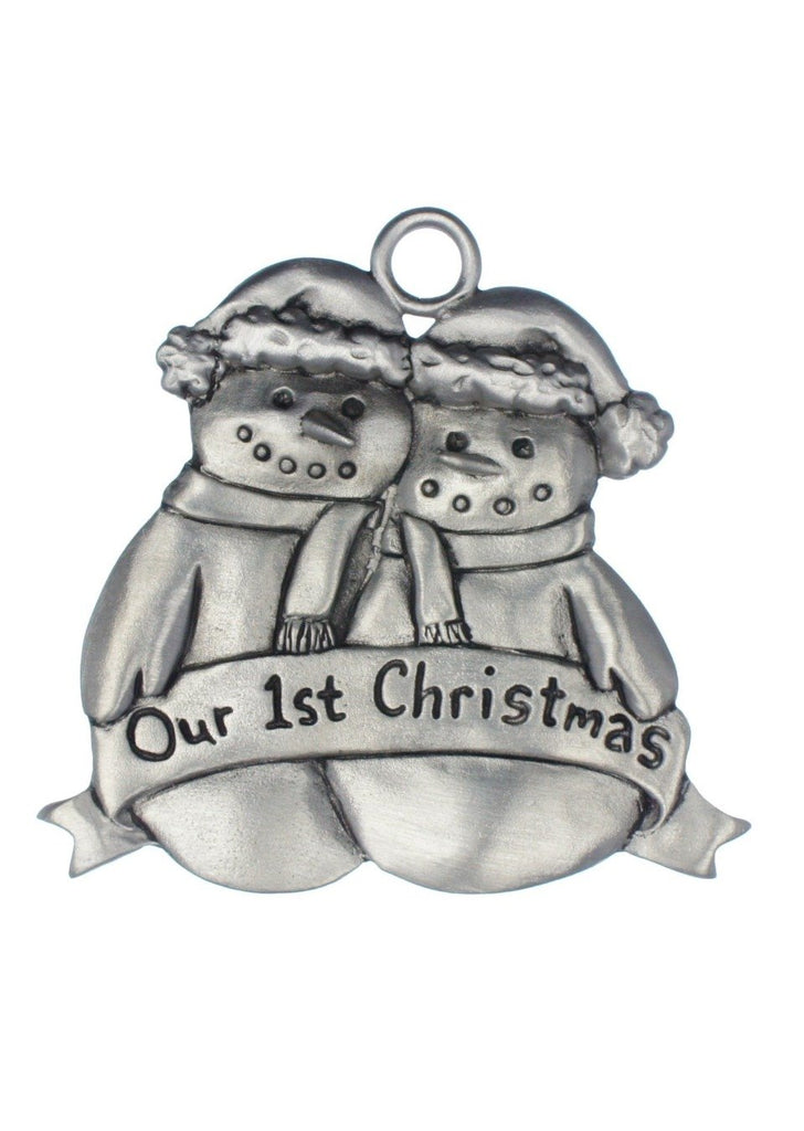 Our 1st Mr & Mrs Snowman Ornament SC126