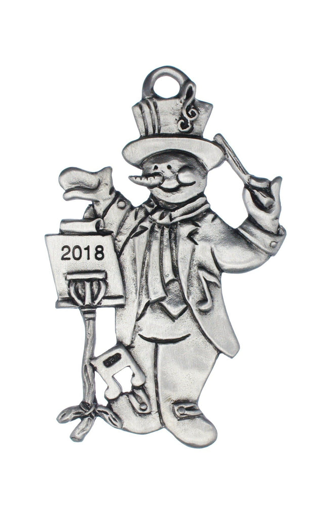 Dated 2018 Musical Snowman Sm Ornament SC128