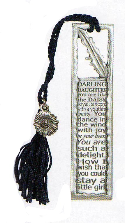 Daughter/Daisy tassel bookmark BO-3054