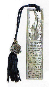 Friend/Poppy tassel bookmark BO-3056