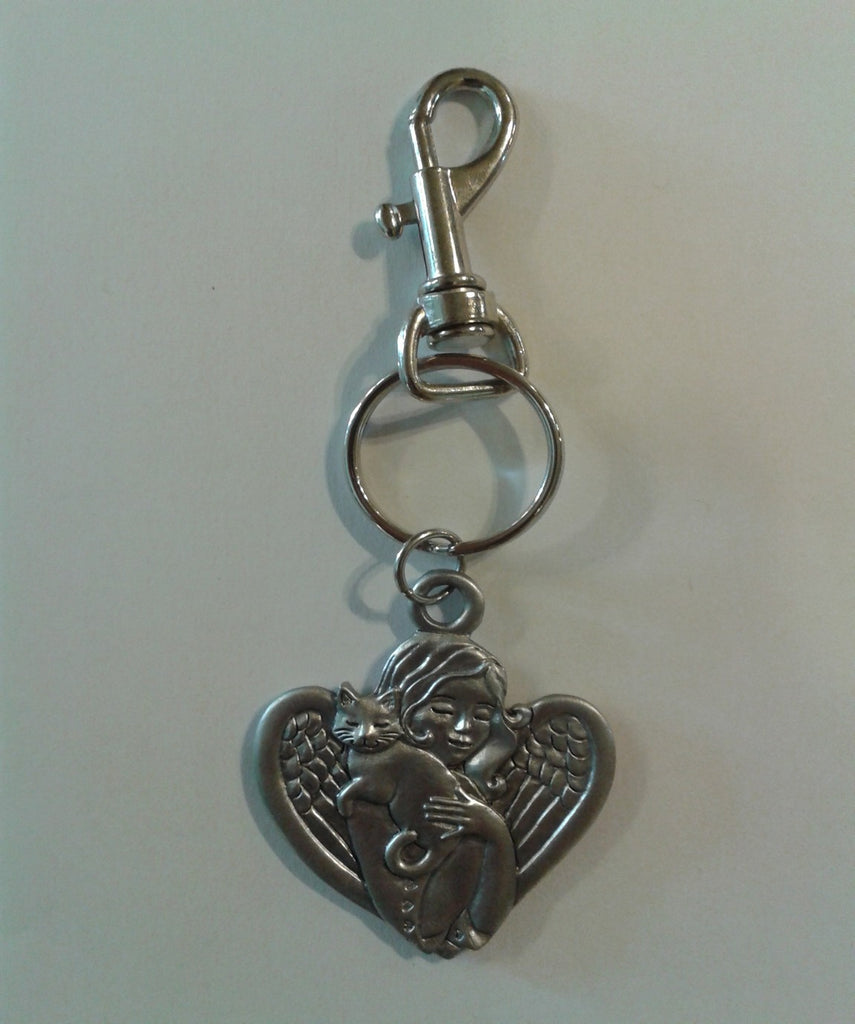 Angel with Cat Latch Keychain KC-1070