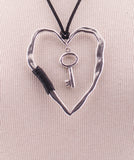 Heart w/ key Fashion Pendent P036