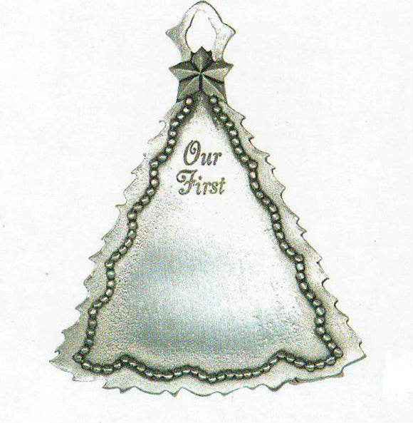 Our First Tree Sentiment Ornament SC-11001S