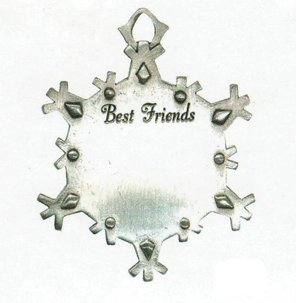 Best Friends Snowflake Sentiment Orn. SC-11002S