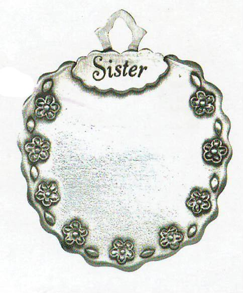 Sister Sentiment Ornament SC-11003S