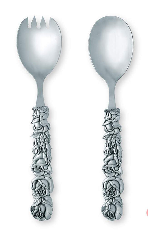 Traditional Rose Salad Servers  TR-20