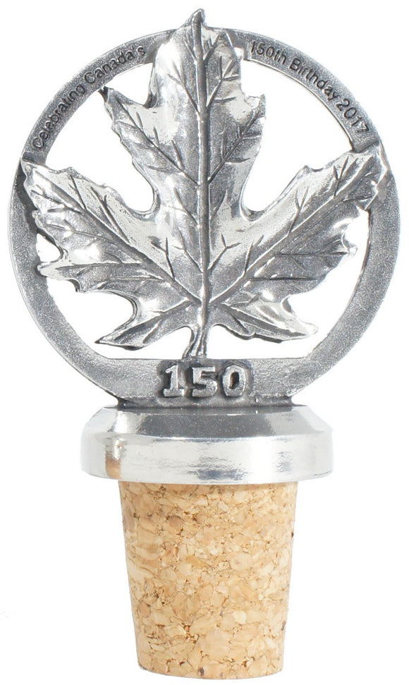 C150 Maple Leaf Wine Cork WC003