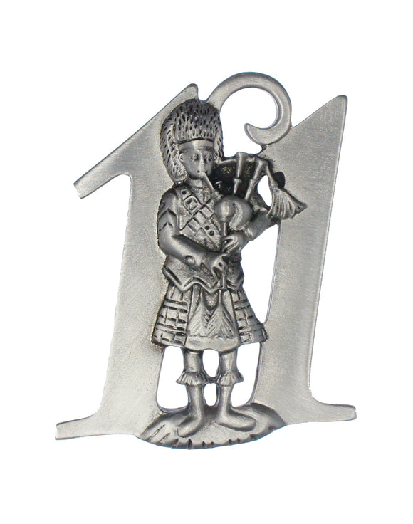 Eleven Pipers Piping Ornament SC-507