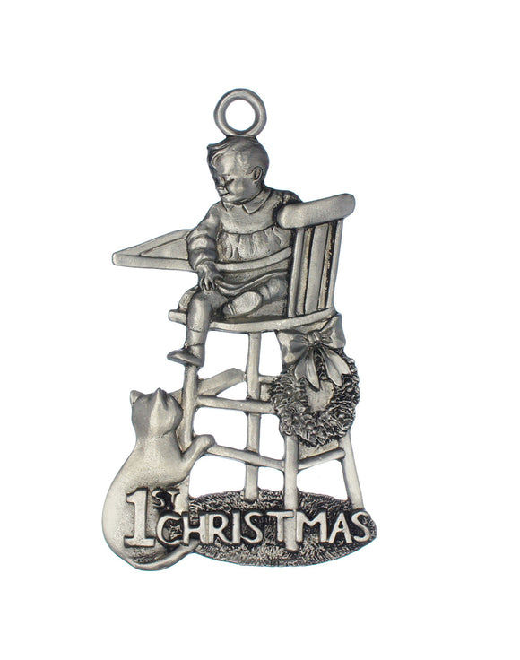 First Christmas Highchair Ornament, 1st Christmas Highchair Ornament
