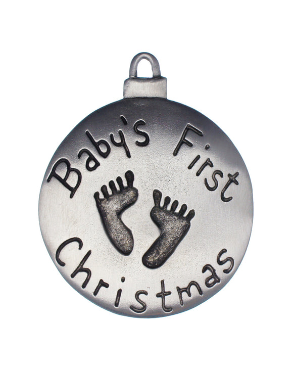 Baby's First Christmas Footprints Ornament, Baby's 1st Christmas Footprints Ornament