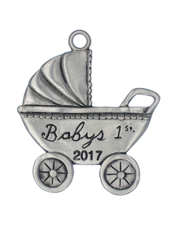 Baby's First Pram Dated 2017 Ornament, Baby's 1st Pram Dated 2017 Ornament
