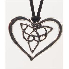 Celtic Knot Heart Pendant P021