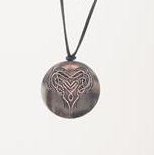 Solid Celtic Heart Pendant P027
