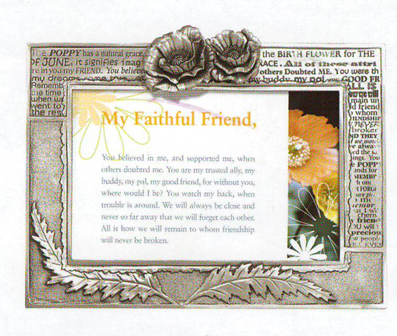 Friend/Poppy 4x6 frame PF-2129