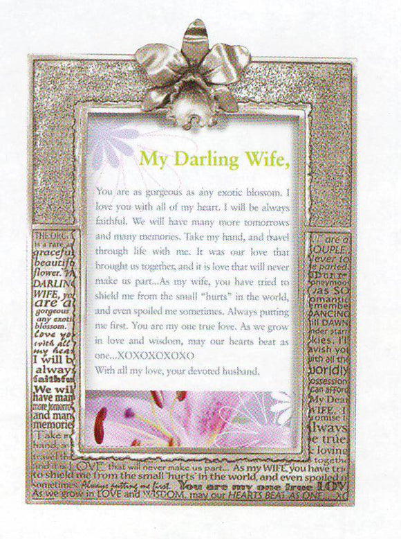 Wife/Orchid Picture Frame PF-2130