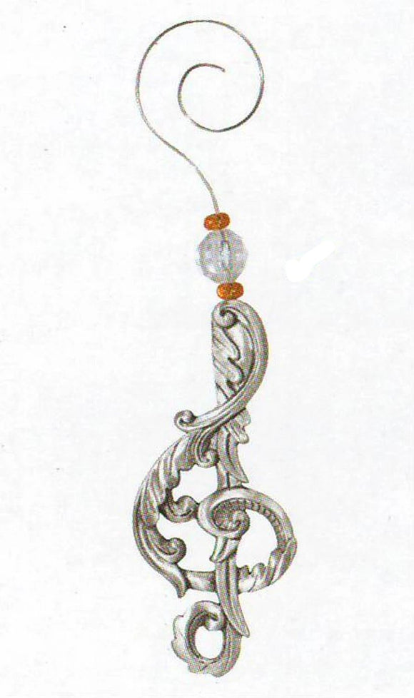 Treble Clef Decorative Swirl Orn SC-9003