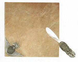 Pineapple Tile Tray w/ Knife TA-248