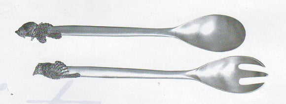 Winter Song Salad Servers / Bowl TC-42