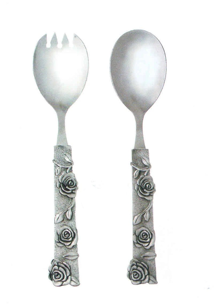 Contemporary Rose Salad Server Set