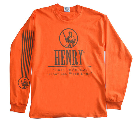 Henry Orange Long Sleeve T-Shirt