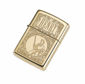 Henry Zippo High Polish Brass (Engraved) Lighter
