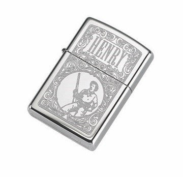 Henry Zippo High Polish Chrome (Engraved) Lighter