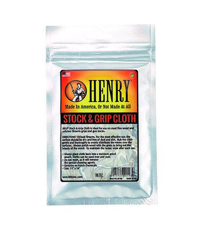 Henry Blitz Wood Stock And Grip Cloth