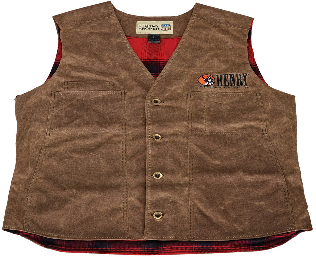 Mens Waxed Cotton Button Vest