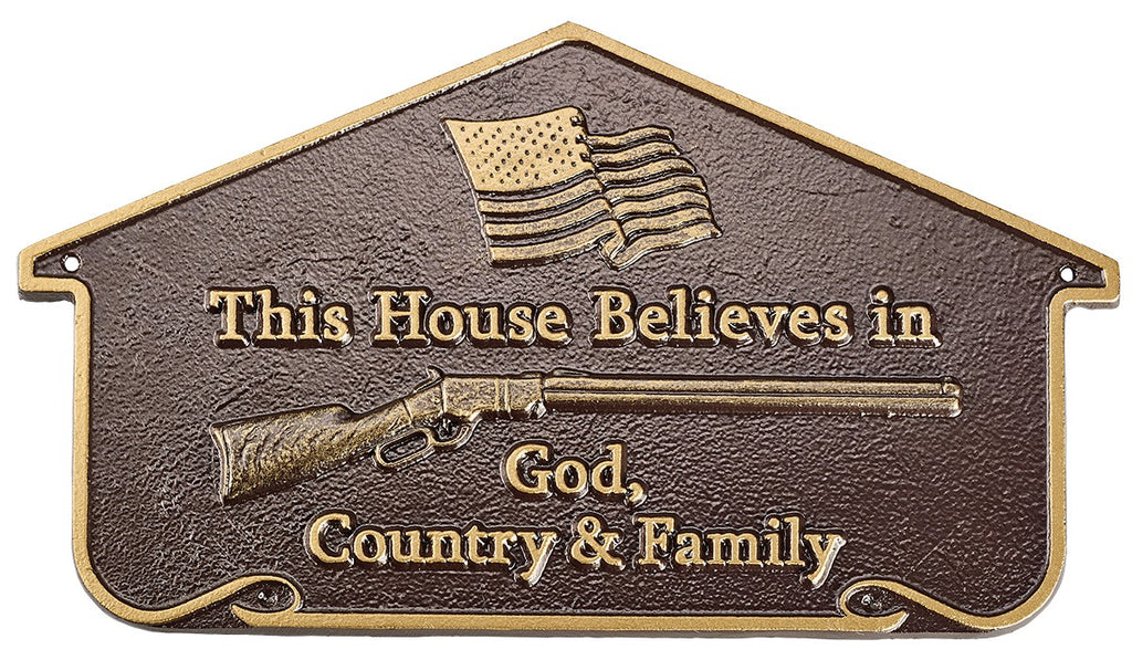 Henry Patriotic Home Plaque (Wall or Lawn)