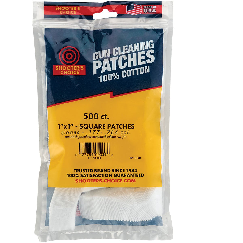 "Shooter's Choice 500pk 1"" Cleaning Patches"