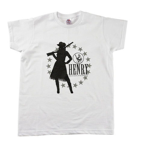 Henry Ladies White Silhouette T-Shirt