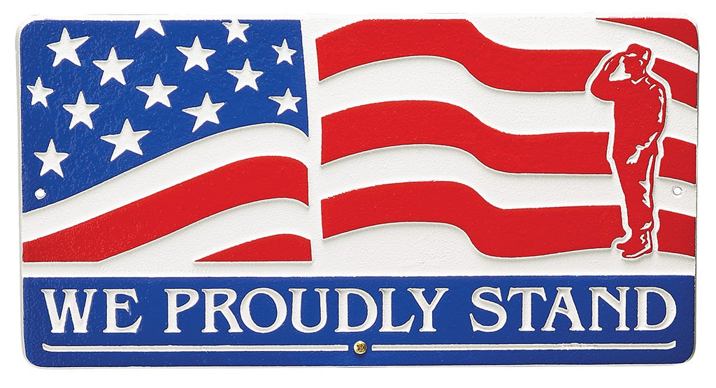 Henry We Proudly Stand Wall Plaque