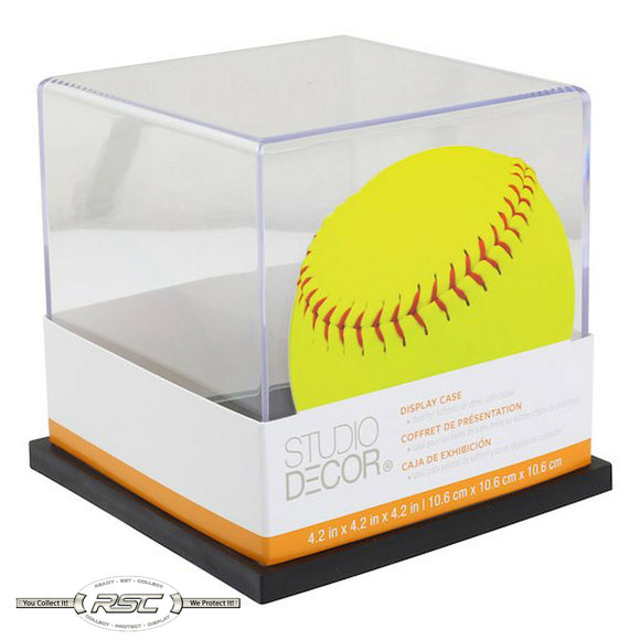 Softball Display Case w/Black Base