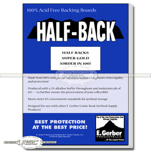 Half-Back Super Gold 24pt Backing Boards