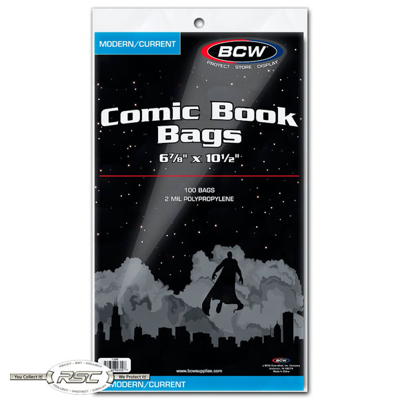 Modern / Current 2-Mil Polypropylene Comic Bags