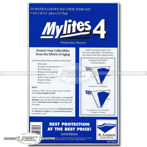Mylites 4 Silver & Golden Age 4-Mil Mylar Bags