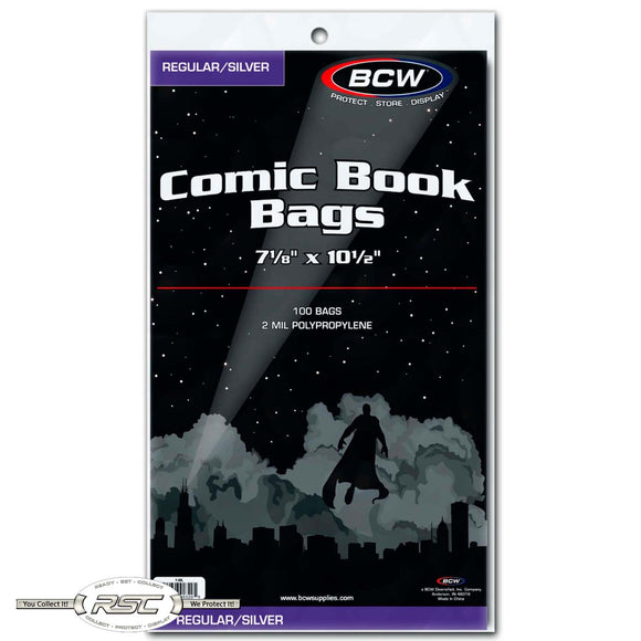 Regular / Silver 2-Mil Polypropylene Comic Bags