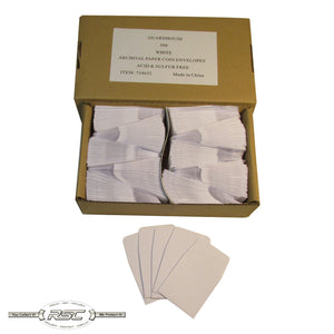 White Archival Paper Coin Envelopes - Case of 500