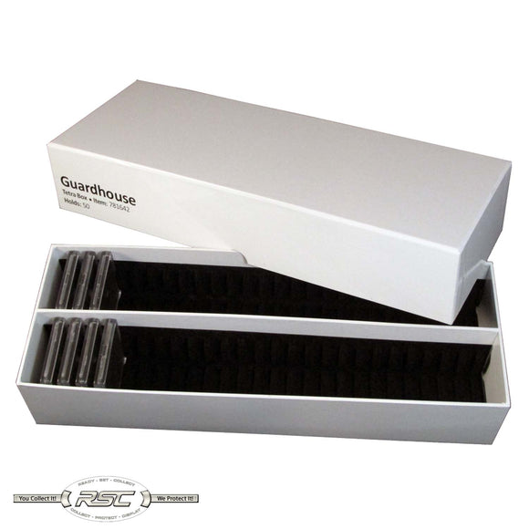 Double Row Tetra Snaplock Box - Holds 50 Plastic 2x2 Tetra Snaplocks