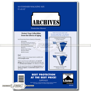 Archives Standard Magazine 4-Mil Mylar Sleeves